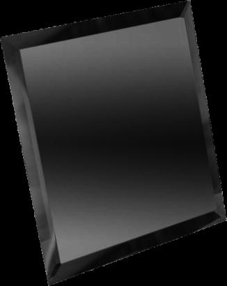 Керамическая плитка Квадратная зеркальная графитовая плитка с фацетом 10мм КЗГ1-04 - 300х300 мм 10шт