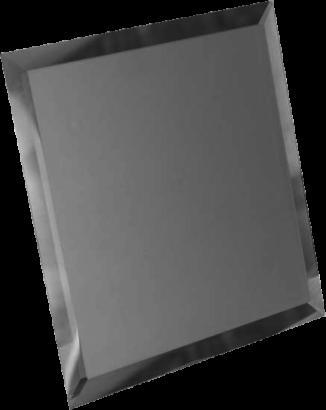 Керамическая плитка Квадратная зеркальная серебряная матовая плитка с фацетом 10мм КЗСм1-01 - 180х180 мм 10шт