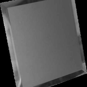 Керамическая плитка Квадратная зеркальная серебряная плитка с фацетом 10мм КЗС1-04 - 300х300 мм 10шт