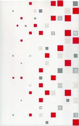 Керамическая плитка Kwant bialo-czerwony Декор 25х40