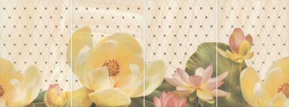 Керамическая плитка Летний сад Панно беж из 4 частей HGD B56 4x 8260 30х80