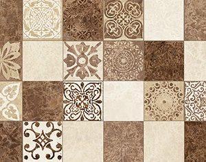 Керамическая плитка Libra Плитка настенная мозаика коричневый 17-30-11-486 20х60