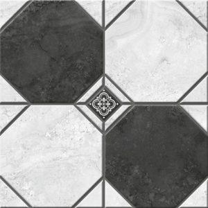 Керамогранит Лимбург 1Д тип 2 Керамогранит черно-белый микс 40х40