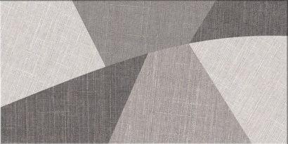 Керамическая плитка Лондон 1Д Керамогранит серый декор 30х60