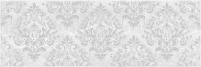 Керамическая плитка Мармара Арабеска Декор серый 17-03-06-661 20х60