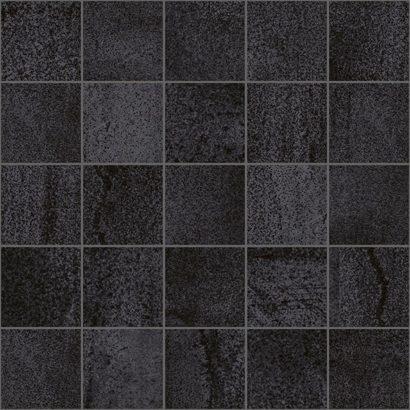 Керамическая плитка Metallica Декор мозаичный чёрный MM34034 25х25