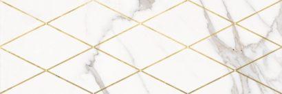 Керамическая плитка Миланезе дизайн Декор Римский каррара 1664-0141 20х60