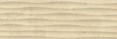Керамическая плитка Миланезе дизайн Плитка настенная крема волна 1064-0160 20х60