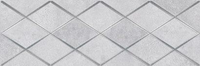 Керамическая плитка Mizar Attimo Декор тёмно-серый 17-05-07-1180-0 20х60
