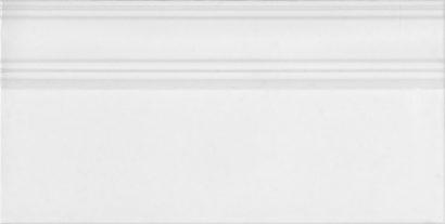 Керамическая плитка Монфорте Плинтус белый обрезной FME006R 20х40
