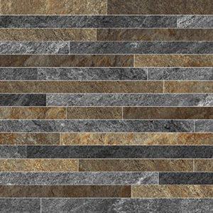 Керамическая плитка Монтана 2Д Керамогранит серо-коричневые полоски 30х60