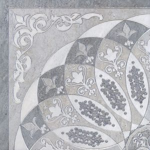 Керамогранит Монтаньоне 1 4 Розона серый лаппатированный Декор HGD B37 SG1550L - 40