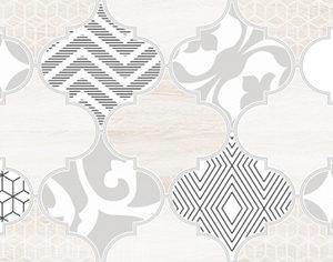 Керамическая плитка Мореска Декор 2 бежевый 1641-8626 20х40
