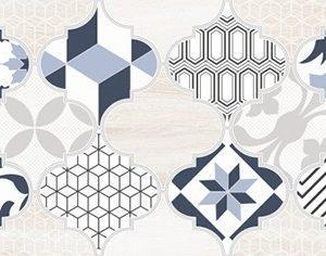 Керамическая плитка Мореска Декор 2 синий 1641-8630 20х40