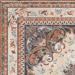 Керамогранит Мраморный дворец Декор ковёр угол лаппатированный HGD A174 SG1550  40