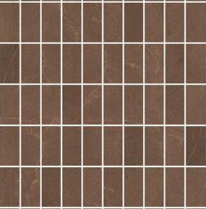 Керамическая плитка Низида Декор мозаичный коричневый MM12099 25х75