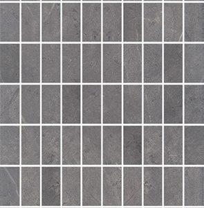 Керамическая плитка Низида Декор мозаичный серый MM12098 25х75