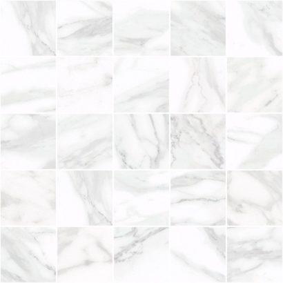 Керамическая плитка Olimpus Декор мозаичный белый MM34037 25х25