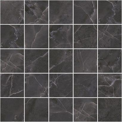 Керамическая плитка Olimpus Декор мозаичный чёрный MM34038 25х25