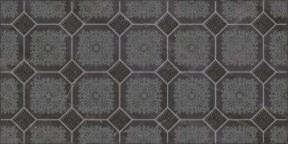 Керамическая плитка Olimpus Grand Декор чёрный 25х50