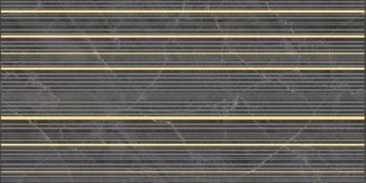 Керамическая плитка Olimpus Race Декор чёрный 25х50