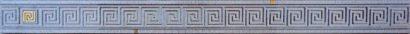 Керамическая плитка Пальмира Бордюр стеклянный серый 5х60