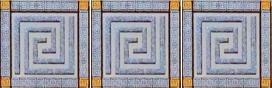 Керамическая плитка Пальмира Комплект стеклянных вставок (3шт компл.) серый 5