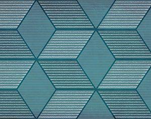 Керамическая плитка Парижанка Декор Гексагон бирюзовый 1664-0185 20х60