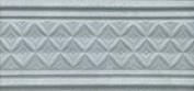 Керамическая плитка Пикарди Бордюр структура голубой LAA004 15х6