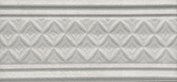 Керамическая плитка Пикарди Бордюр структура серый LAA003 15х6