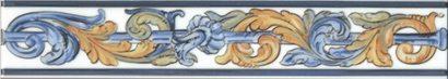 Керамическая плитка Площадь Испании Бордюр HGD A349 15050T 40х7