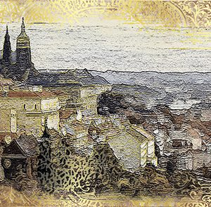 Керамическая плитка Прага Декор ВС7ПГ004 36