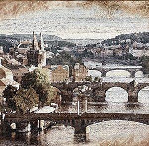 Керамическая плитка Прага Декор ВС7ПГ024 36