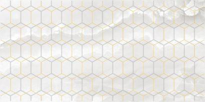 Керамическая плитка Prime Декор белый 25х50