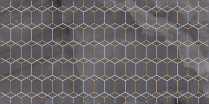 Керамическая плитка Prime Декор чёрный 25х50