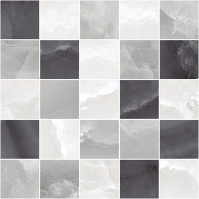 Керамическая плитка Prime Декор мозаичный серый микс MM34040 25х25