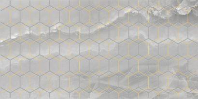 Керамическая плитка Prime Декор серый 25х50