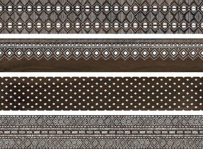 Керамогранит Про Вуд Керамогранит коричневый декорированный обрезной DL510400R 20х119