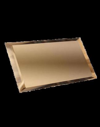 Керамическая плитка Прямоугольная зеркальная бронзовая плитка с фацетом 10мм ПЗБ1-01 - 240х120 мм 10шт