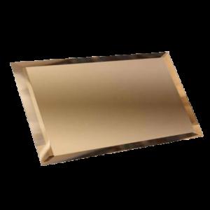 Керамическая плитка Прямоугольная зеркальная бронзовая плитка с фацетом 10мм ПЗБ1-02 - 480х120 мм 10шт