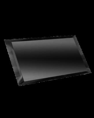 Керамическая плитка Прямоугольная зеркальная графитовая плитка с фацетом 10мм ПЗГ1-01 - 240х120 мм 10шт