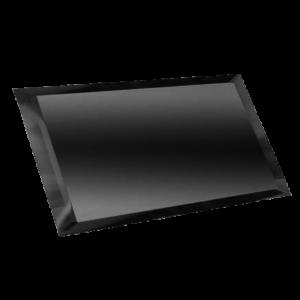 Керамическая плитка Прямоугольная зеркальная графитовая плитка с фацетом 10мм ПЗГ1-02 - 480х120 мм 10шт