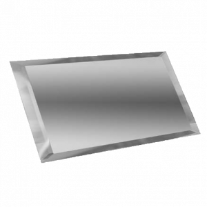 Керамическая плитка Прямоугольная зеркальная серебряная плитка с фацетом 10мм ПЗС1-01 - 240х120 мм 10шт