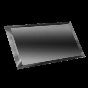 Керамическая плитка Прямоугольная зеркальная серебряная плитка с фацетом 10мм ПЗС1-02 - 480х120 мм 10шт