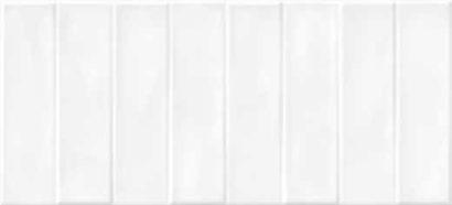 Керамическая плитка Pudra облицовочная плитка кирпич рельеф белый (PDG054D) 20x44