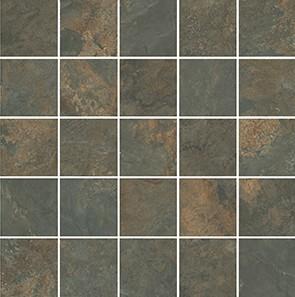 Керамическая плитка Рамбла Декор коричневый мозаичный MM12132 25х25