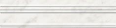 Керамическая плитка Ретиро Бордюр Багет белый BLB040 20х5