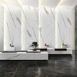 Коллекция плитки Romario Ceramics Supreme White With Ink Ma Китай