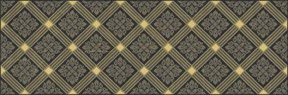 Керамическая плитка Royal Декор чёрный 20х60
