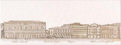 Керамическая плитка Сафьян Декор Панорама Venezia STG A578 15061    15х40